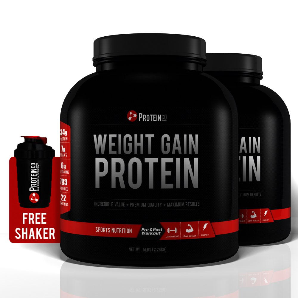 Weight Gain Protein   Pre and Post Workout Supplement   2 x 10 Lbs   Vanilla & Vanilla   FREE SHAKER