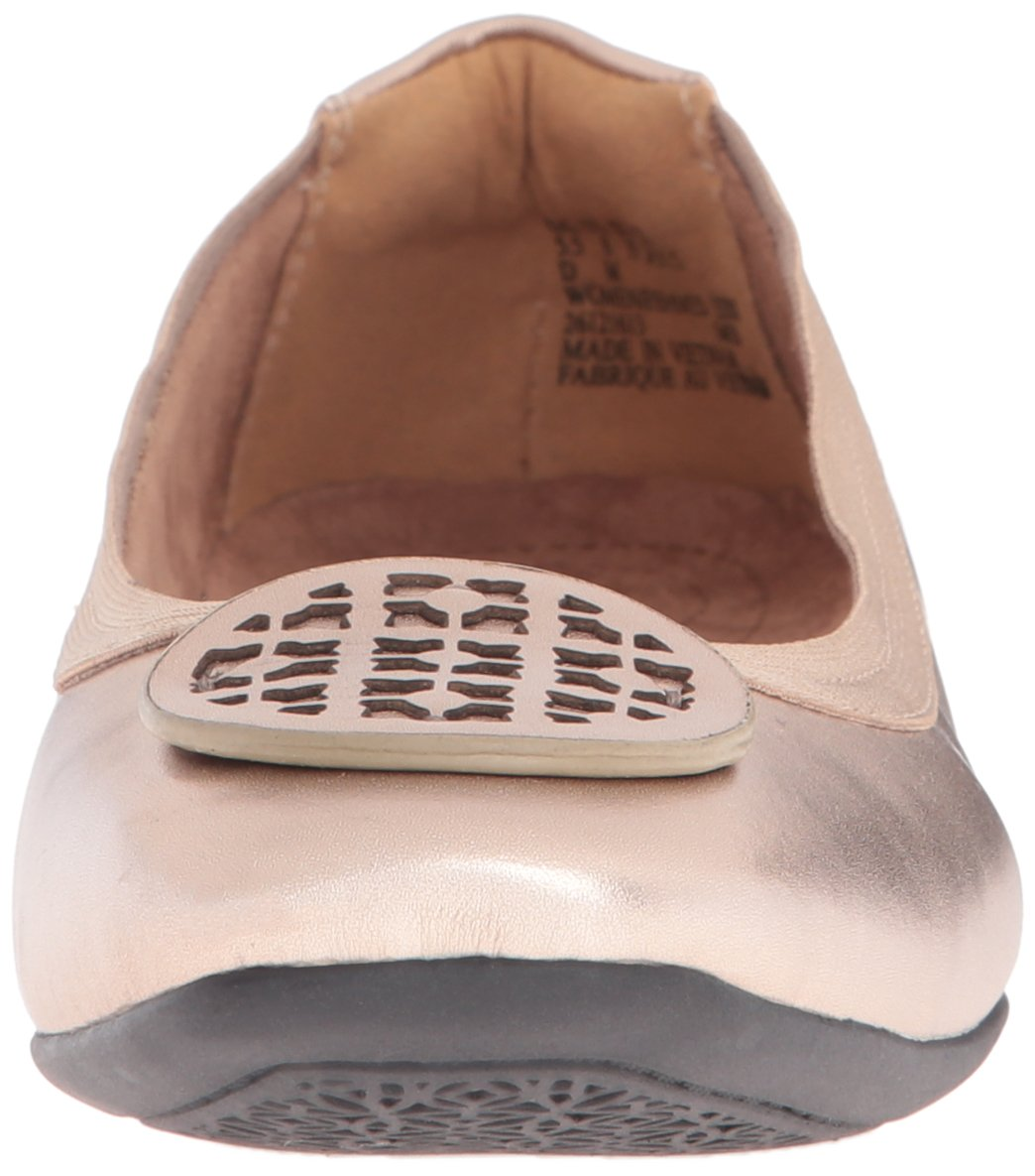 Clarks Women's Candra Blush Flat, Gold/Metallic, 10 M US by CLARKS (Image #4)
