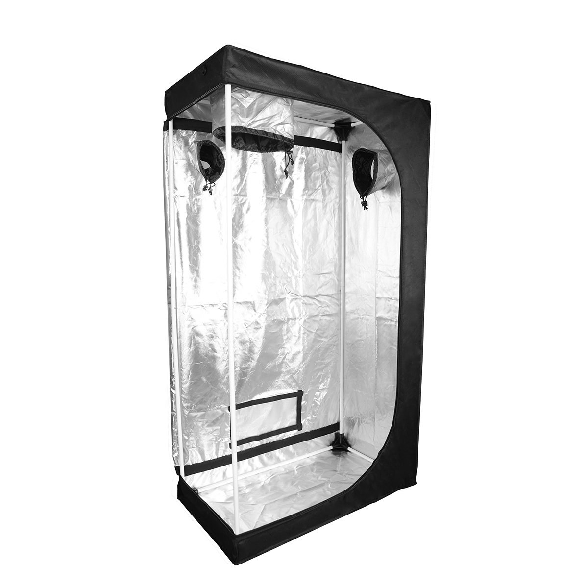 A1KINGDOM 48''x24''x60'' Refelctive Mylar Hydroponic Indoor Grow Tent with Removable Floor Tray,Observation Window and Upgraded Connectors for Indoor Plant Growing