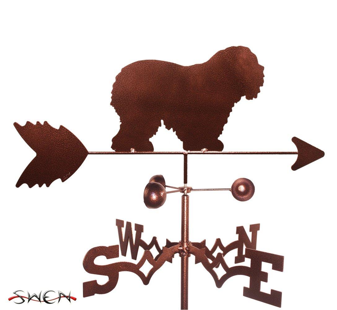 Hand Made OLD ENGLISH SHEEPDOG DOG GARDEN Stake Weathervane ~NEW~