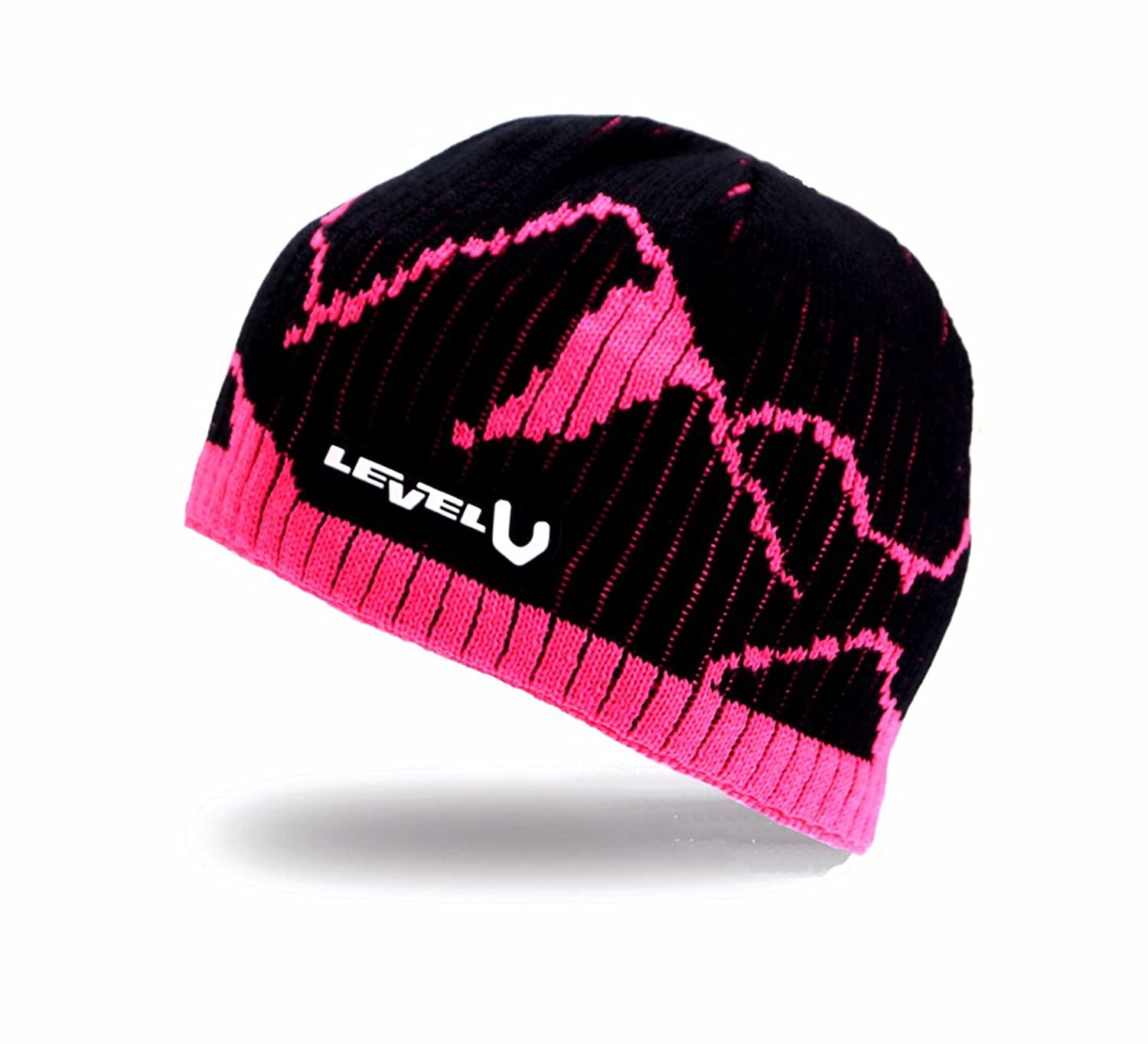 Level - Mountain WS Beanie Gore Windstopper Skimütze (Schwarz / Pink)