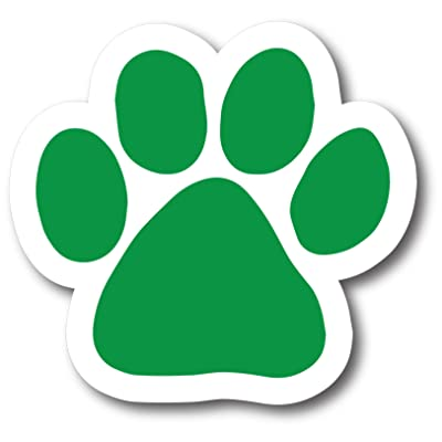 Magnet Me Up Blank Green Pawprint Car Magnet Paw Print Auto Truck Decal Magnet: Automotive