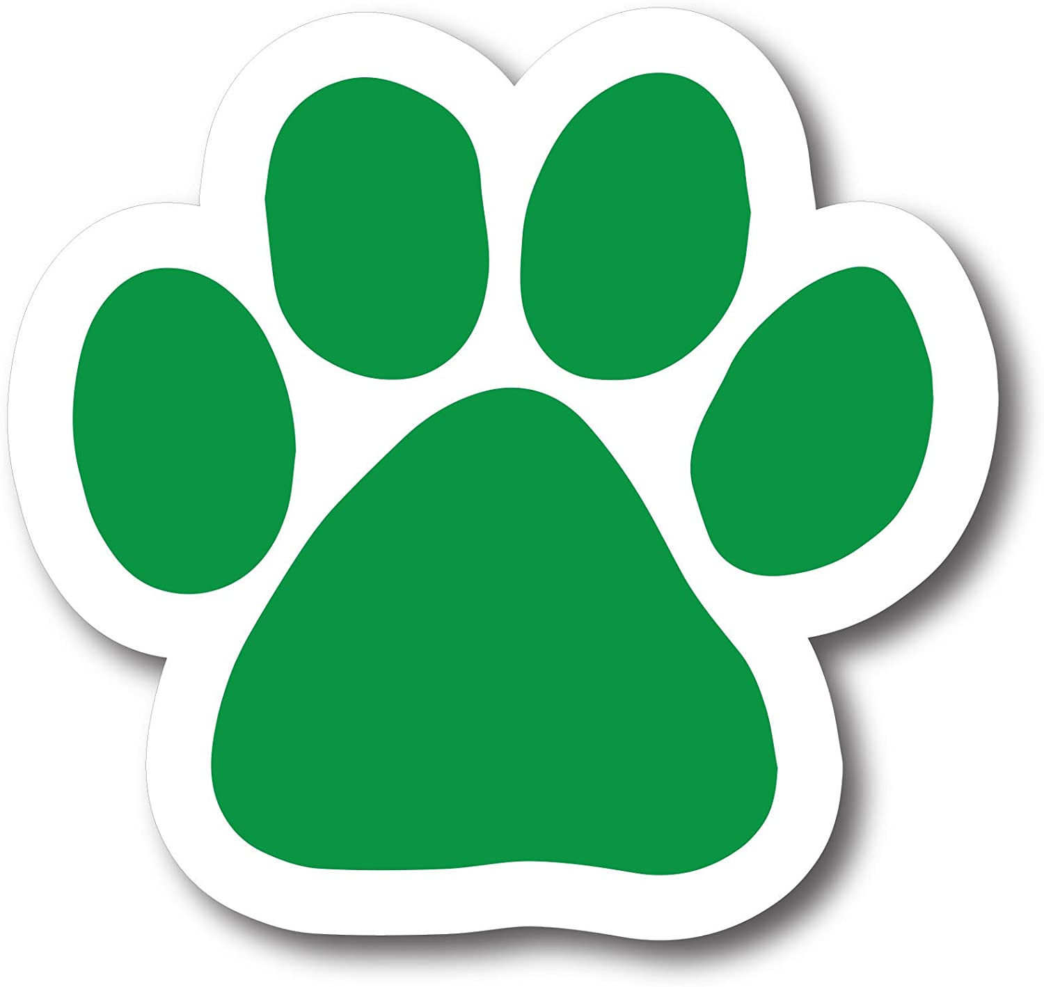 Magnet Me Up Blank Green Pawprint Car Magnet Paw Print Auto Truck Decal Magnet