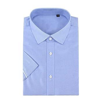 LIBAIYU Camisa<BR>Camisas de Manga Corta para Hombre Cuello ...