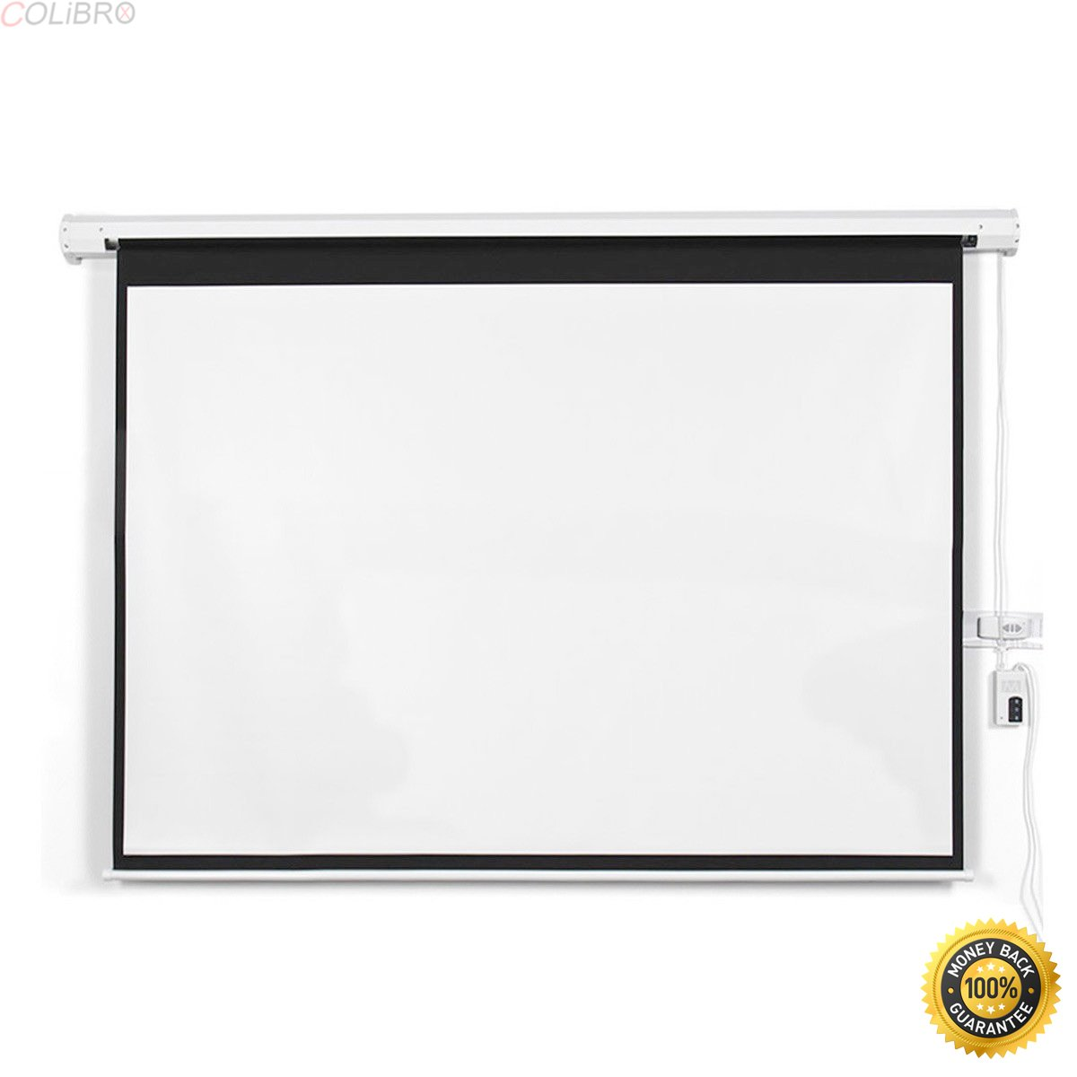 "COLIBROX--New 100"" 16:9 HD Foldable Electric Motorized Projector Screen + Remote,projector screen best buy,home theater projector screen"