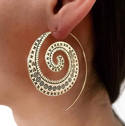 spirale boucle d'oreille
