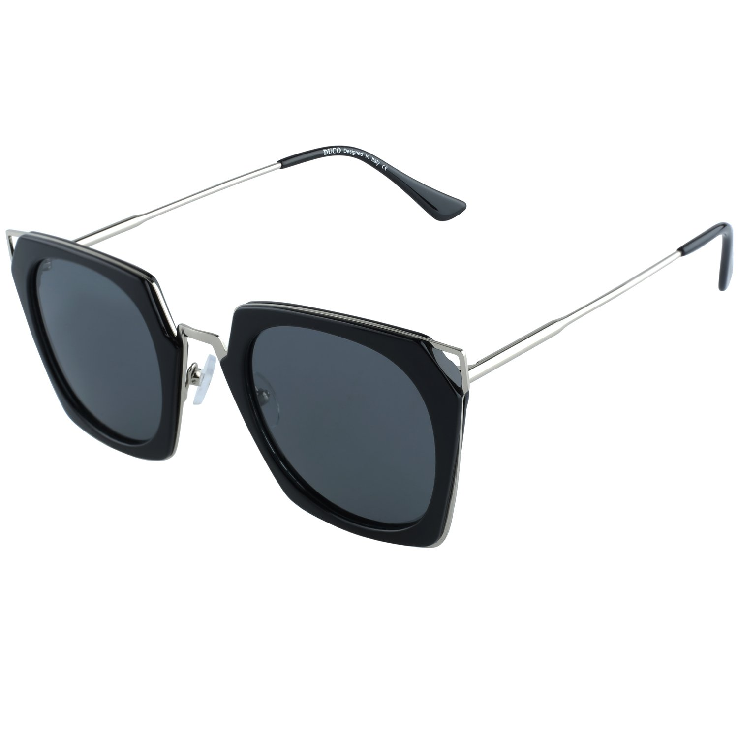 0a37ba2a915 Amazon.com  DUCO Classic Vintage Cateye Polarized Sunglasses For Women 100%  UV Protection W001  Clothing