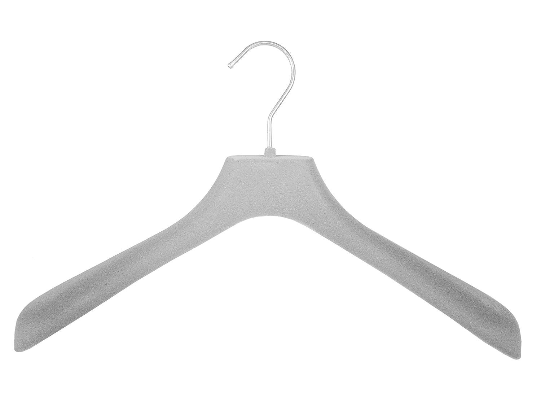 42cm grau 10 St/ück Kleiderbuegelshop24 Edler Samtkleiderb/ügel f/ür Jacken und M/äntel