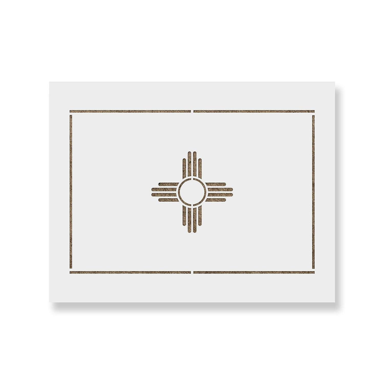 ニューメキシコ州旗ステンシルテンプレート 壁や工芸用 再利用可能なステンシル 小&大判サイズの絵画用 55