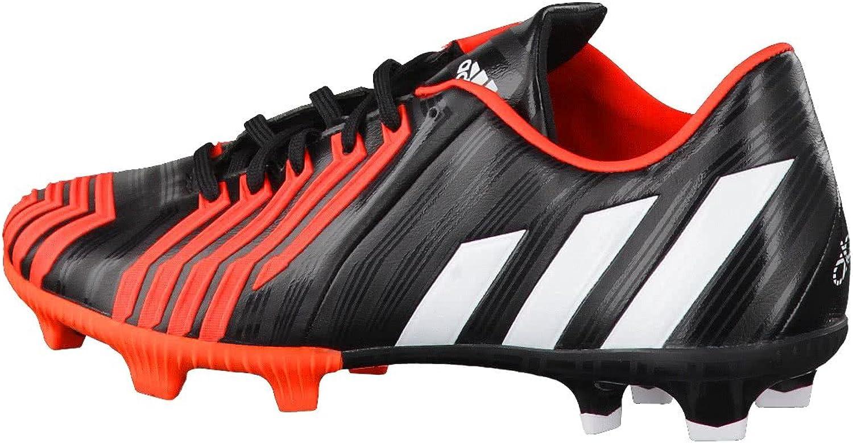 adidas Predator Absolion Instinct FG, Chaussure de Foot, Black-Solar Red Black