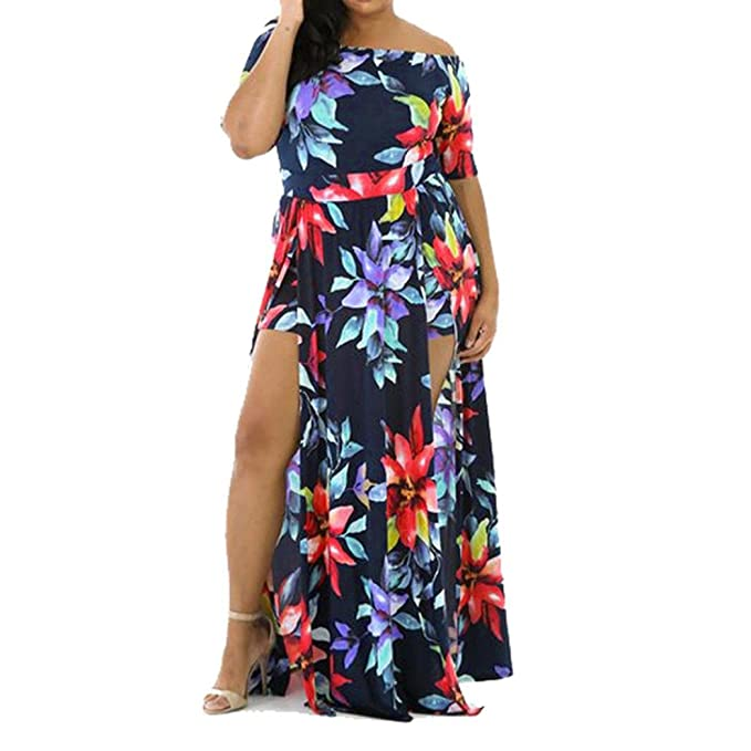 a5db0c81b4f7 Fabal Plus Size Women Jumpsuit Romper Short Trousers Bodycon Clubwear  Playsuit Dress (XXXL)