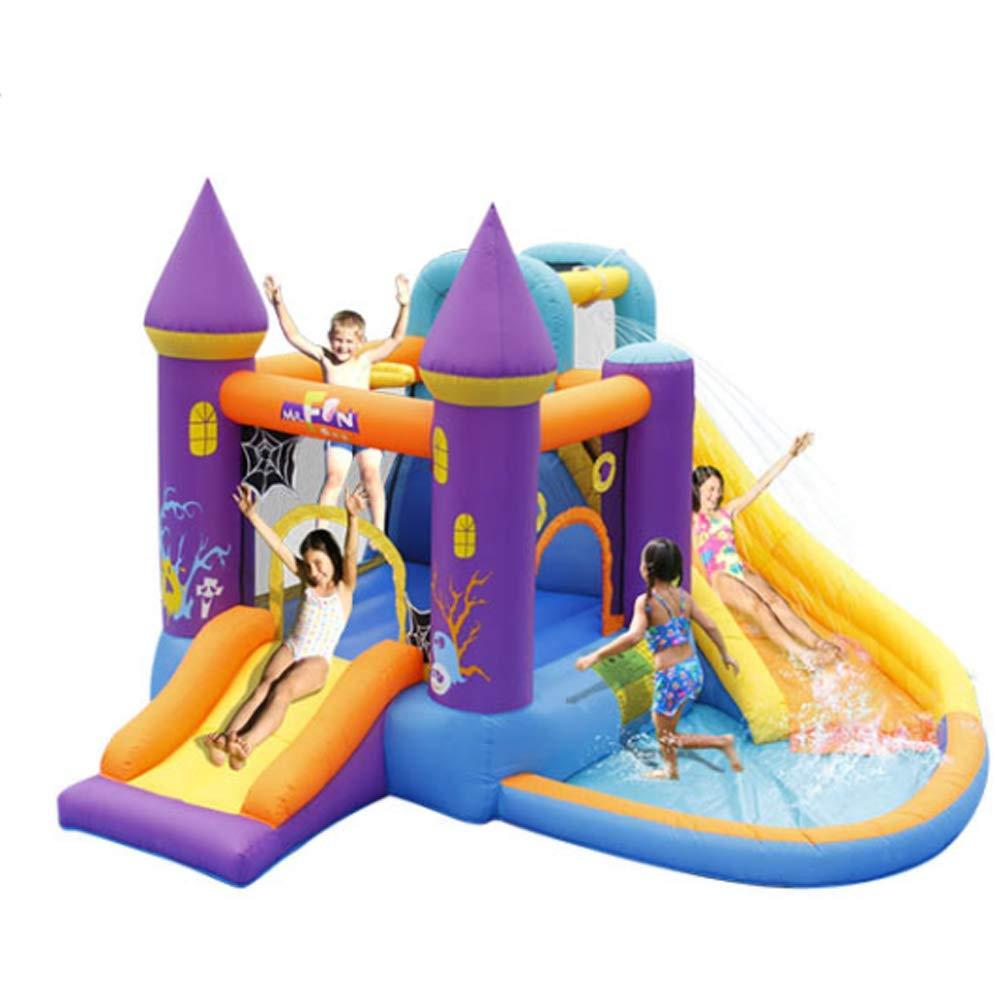 ZYG.GG Castillo Hinchable para niños, tobogán doméstico, trampolín ...