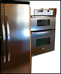 Dishwasher/Refrigerator SATIN Stainless Steel Faux Film compliments your current appliances. (Frigidaire Kenmore LG Whirlpool Kitchen Aid and more.) Do mismatched appliances drive you NUTS?