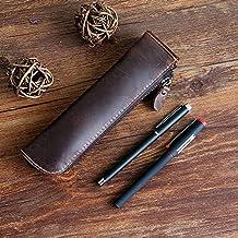 XIDUOBAO Retro Genuine Leather Pencil Pouch Handmade Pencil bag Vintage Genuine Leather Pencil Pen Case Pouch Holder Bag Pencil cases. (02)