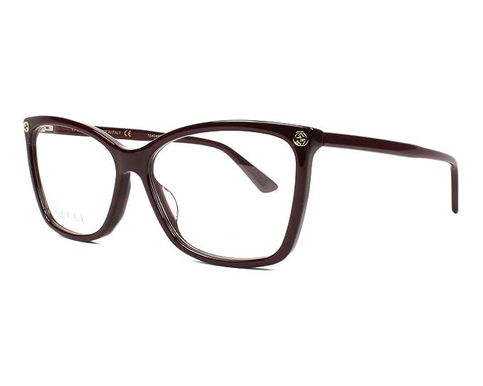 65fa191a4708 Image Unavailable. Image not available for. Colour  Gucci Women s  Prescription Eyewear Frame Brown bordeaux ...