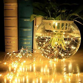 Navidad Decoracion Interior Exterior Luces Cable de Cobre Solar USB10M 100 LED Navidad Decorativas para Navidad Jardín Entrada Fiestas Boda Decoración: Amazon.es: Bricolaje y herramientas