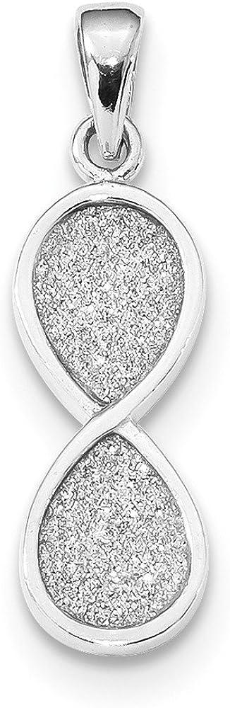 925 Sterling Silver Rhodium-plate Laser-cut Infinity Symbol Charm Pendant