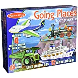 Melissa & Doug Going Places Vehicles Floor Puzzles (4 puzzles, 12 pcs each)