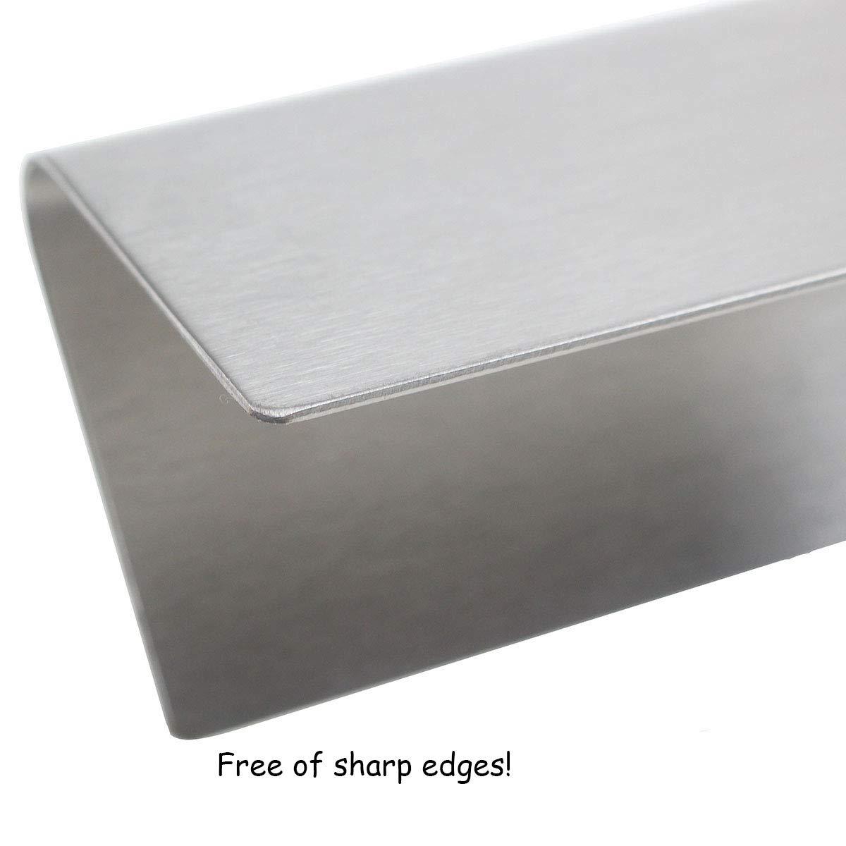 QuliMetal 7620, 16 Gauge, 17.5'' Stainless Steel Heat Shield for Weber Genesis Flavor Bars, Fit Genesis 300, E310, S310, E330, EP-330 by QuliMetal (Image #3)