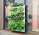 SavvyGrow BloomWall Rack - Vertical Mount Stand Holder Divider Organizer for BloomWall Vertical Garden Planter - Indoor Outdoor Planting Accessory - Holds 6 Sets BloomWall (4 Pots Each) Extendable