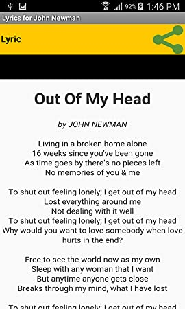 Amazon com: Lyrics for John Newman: Appstore for Android