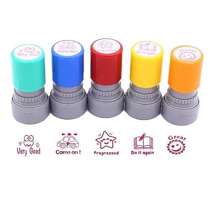 Maestros SELF-INKING sellos de goma, 5 unidades), diseño de Profesor ...
