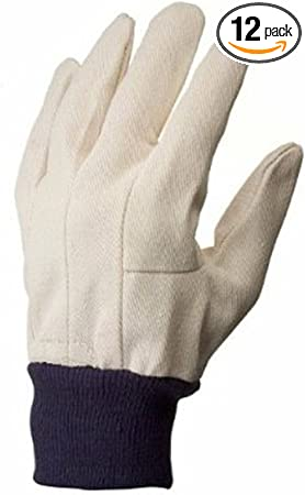 10 pairs 100/% Cotton Gloves Dotted Palm White Cotton Gloves LARGE