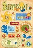 Karen Foster Design Acid and Lignin Free Scrapbooking Sticker Sheet, Summer Fun