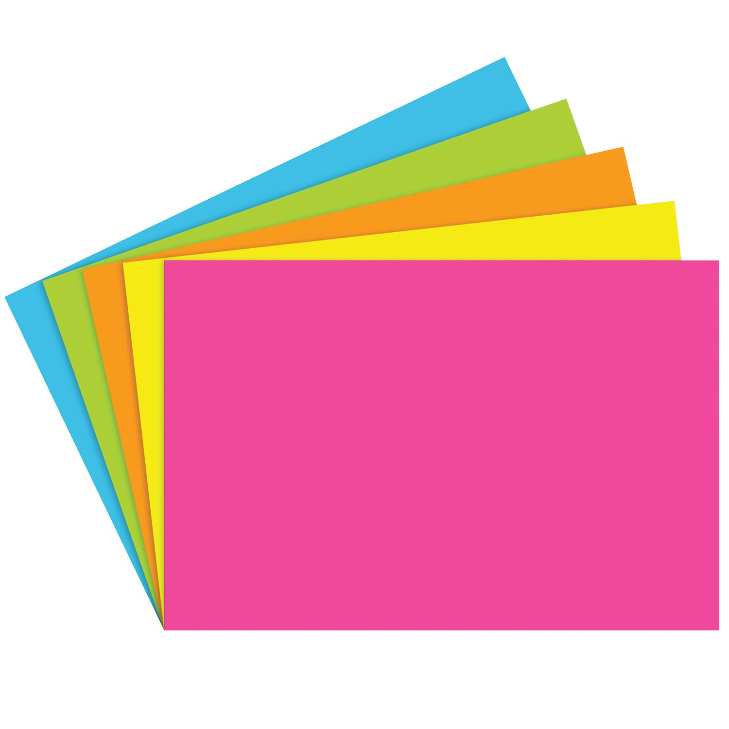 Top Notch Teacher Products TOP361BN Index Cards 4X6 Blank Brite Assorted, Grade Kindergarten to 1, 4'' Height, 6'' Wide, 5Length (Pack of 600)