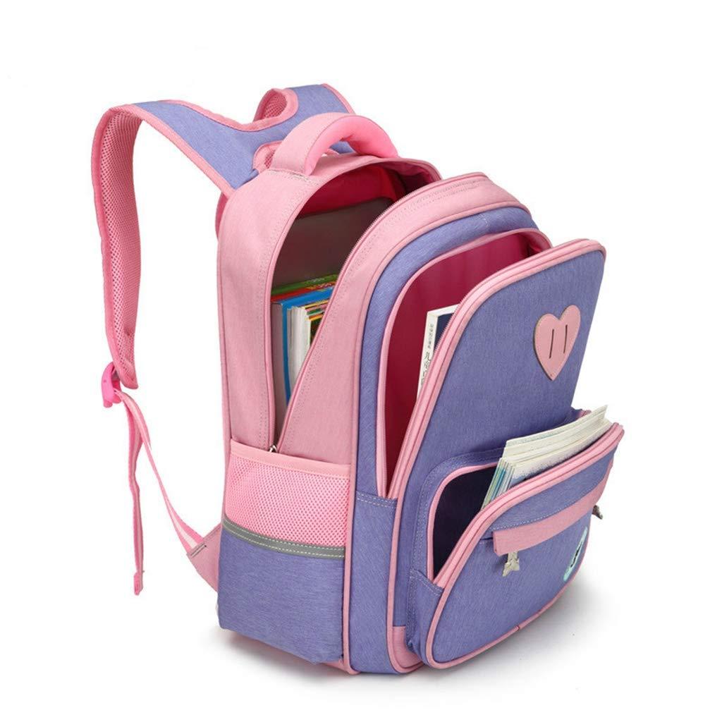 DX Schulrucksack Kinder Schultaschen Für Mädchen Jungen Orthopädischer Rucksack Kinder Rucksäcke schultaschen Grundschule Rucksack Kinder Schulranzen purple