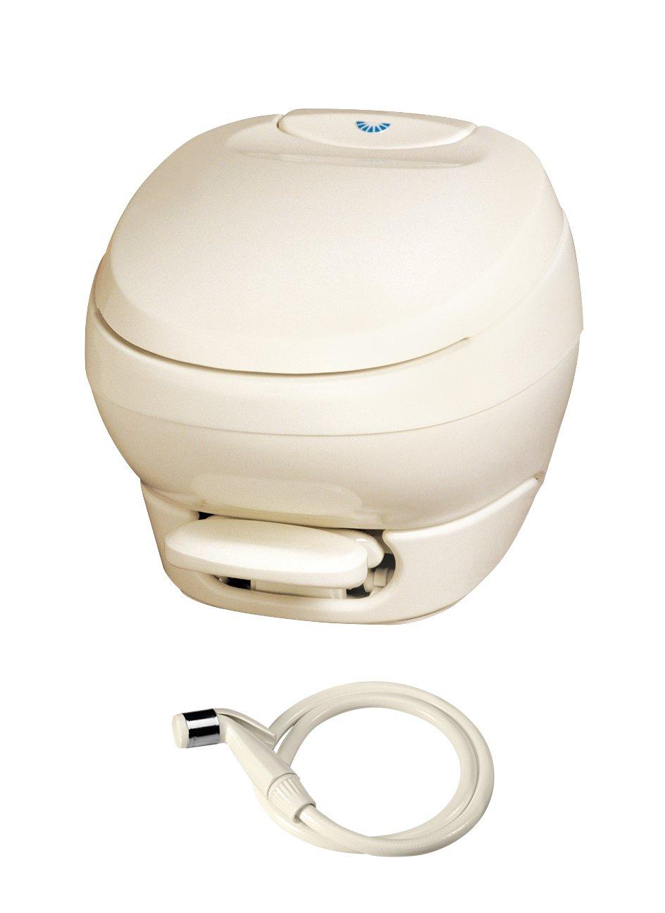 Aqua-Magic Bravura RV Toilet Pedal Flush with Water Saver / Low Profile / Parchment - Thetford 31121 by Thetford