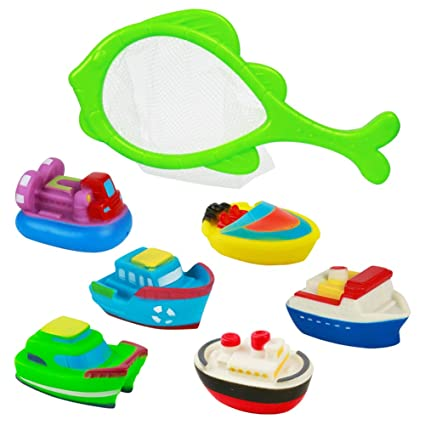 New Soft Rubber Float Sqeeze Sound Baby Bath Play Car Plane Boat  FO