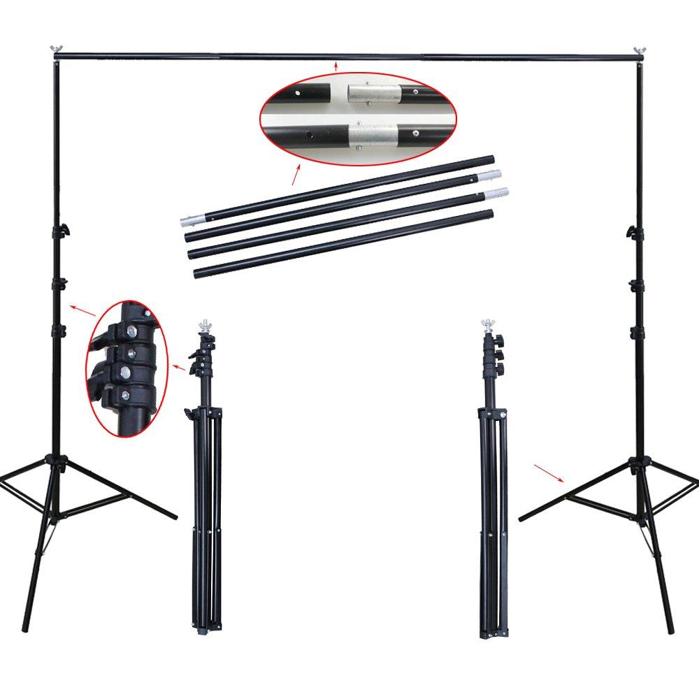 PMS 2.8 x 3m Sistema de Soporte para Fondo de Estudio Fotogr/áfia fotogr/áfico v/ídeo de Foto y V/ídeo con Barra Transversal