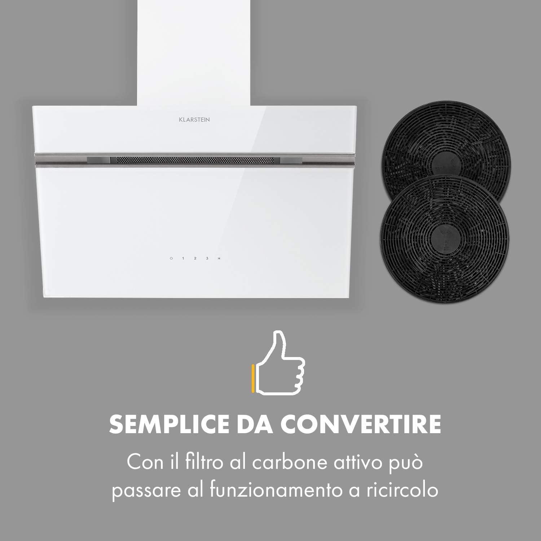 Klarstein Alina - Campana extractora inclinada Nero - 60 cm: Amazon.es: Hogar