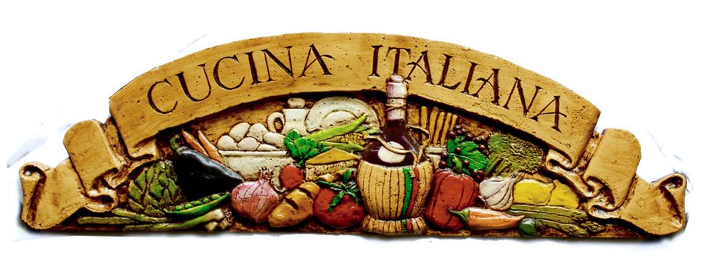 Amazon.com: Italian Kitchen Wall Decor Cucina Italiana Door Topper: Home U0026  Kitchen