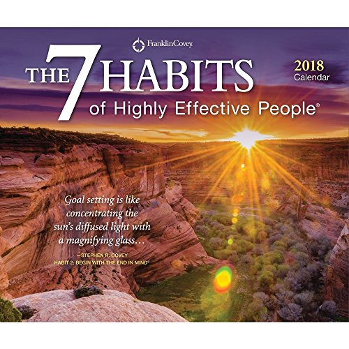 7 Habits of Highly Effective People, The 2018 Desktop Box Calendar, Self Help Improvement