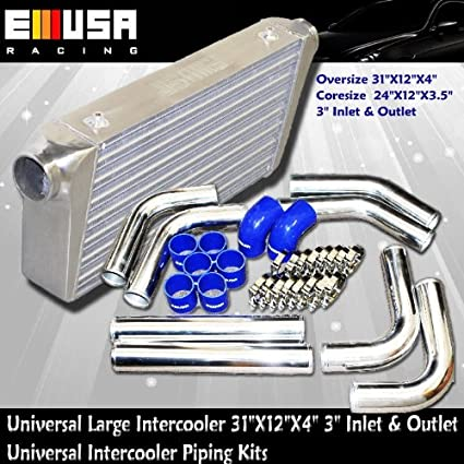 "Universal Large Intercooler Oversize 31X12X4 Coresize 24X12X3.5 3"" Inlet and Outlet AND Universal"