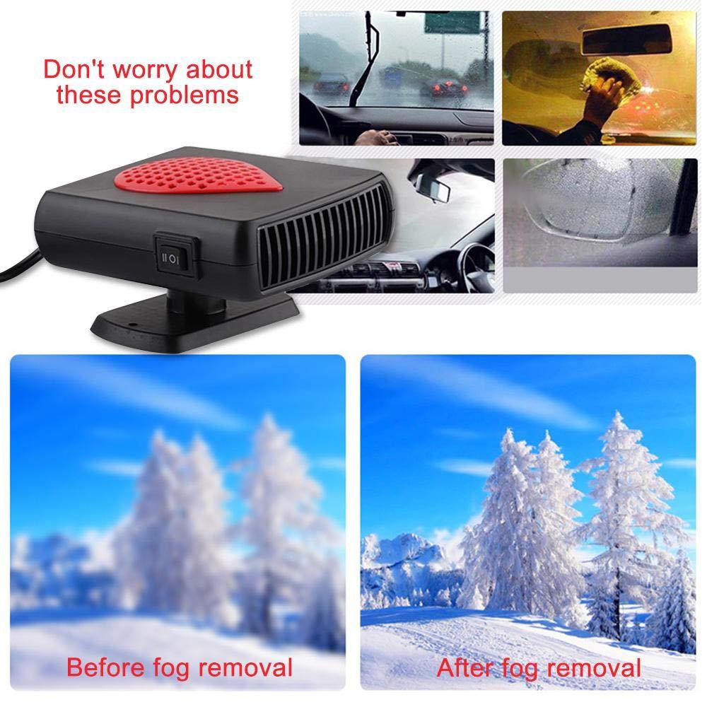 Fast Chauffage Hiver R/échauffeur avec 360/°R/églable Chauffage Degivrage Auto R/échauffeur de Pare-Brise Portable Plug en Allume Cigare 12V Chauffage Voiture Ventilateur