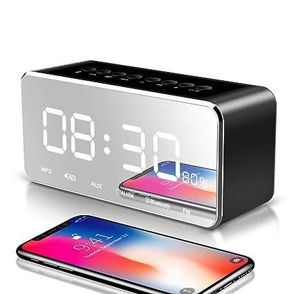 Amazon.com : Tlgf Portable Bluetooth Speaker, Alarm Clock FM ...