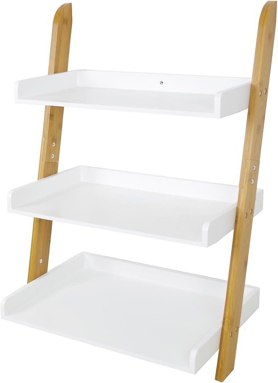 Stylehome Estantería 3böden bambú Blanco 78 x 54 x 36 cm Escalera estantería baño anstell anlehn Estantería: Amazon.es: Juguetes y juegos