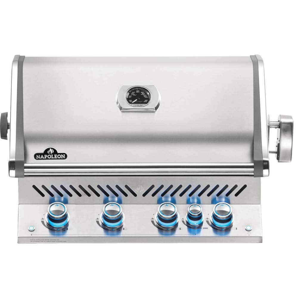 Napoleon BIPRO500RBNSS-3 Built-in Prestige PRO 500 RB Natural Gas Grill Head, sq.in. + Infrared Infrared Rear Burner, Stainless Steel