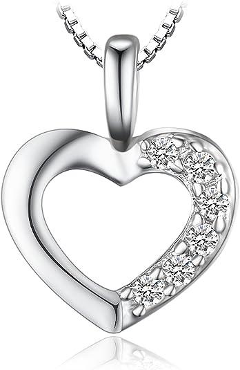 S/écurit/é PULABO Cristal Amour Coeur Ensembles de Bijoux pour Les Femmes Zircon cubique Pendentif Collier Boucles doreilles Cadeau Pratique et Populaire Haute qualit/é