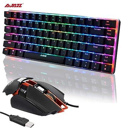 AJAZZ AK33 - Teclado mecánico para PC (USB, Teclado retroiluminado, ratón LED de