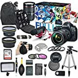 Canon EOS 5D Mark IV DSLR Camera Video Creator Kit with Canon EF 24-105mm f/4L IS II USM Lens + Wide Angle Lens + 2x Telephoto Lens + Flash + SanDisk 32GB SD Memory Card + Accessory Bundle