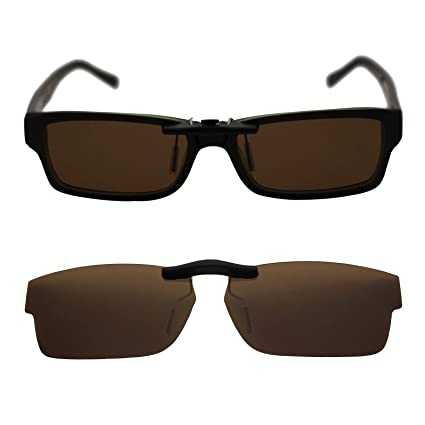 be7cb930149 Custom Polarized Clip On Sunglasses for RAY-BAN RB5169 (52mm) 52-16-140  (Brown Mirror) - - Amazon.com