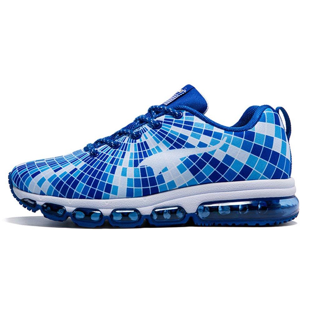 ONEMIX Air Zapatillas de Running para Hombre Zapatos para Correr y Asfalto Aire Libre y Deportes Calzado Zapatillas de running Casual Shoes 7 D(M) US 9.84inch|Azul blanco