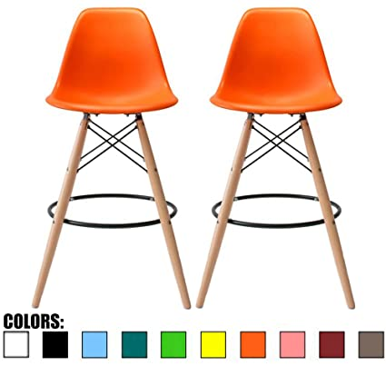 2xhome   Set Of Two (2)   Orange   25u0026quot; Seat Height Eames
