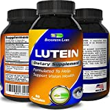 Lutein Eye Support Supplement – With Zeaxanthin - Advanced Vision Support Vitamin - #1 Antioxidant to Keep Eyes Strong & Vision Clear – Improve Ocular Health - For Women & Men by Biogreen Labs
