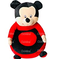 CLICK4DEAL Stuffed Spongy Hugable Cute Soft Toy Baby Micky Soft Toy Chair - 46 cm /Kids Playing seat/Micky Baby seat/Soft Toys seat for 1 to 5 Years Baby