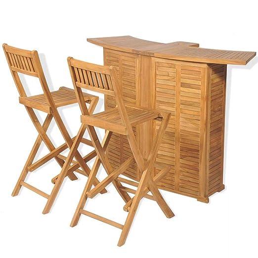 Tidyard Conjunto Muebles Balcón Set Mesa y sillas Plegables bistró ...